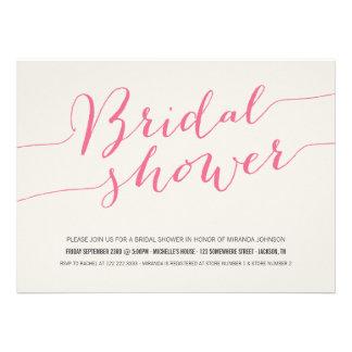 Pink Chic Bridal Shower Invitations