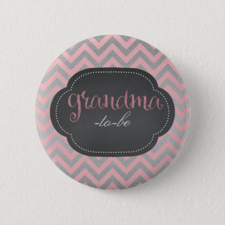 Pink chic grandma-to-be button
