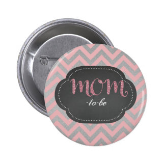 Pink chic mom-to-be button