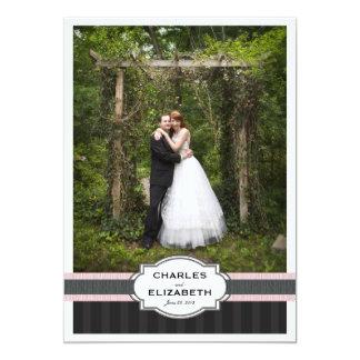 Pink Chic Wedding Thank You Photo Card 13 Cm X 18 Cm Invitation Card