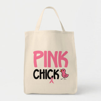 Pink Chick 6 Grocery Tote Bag