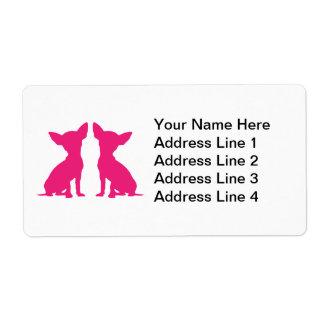 Pink Chihuahua dog cute Address Labels, gift