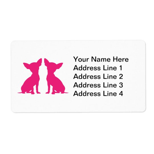 Pink Chihuahua dog cute Address Labels, gift Shipping Label