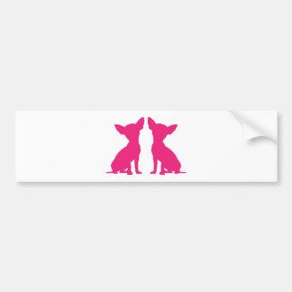 Pink Chihuahua dog cute bumper sticker, gift idea Bumper Sticker