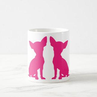 Pink Chihuahua dog cute silhouette mug, gift idea Coffee Mug