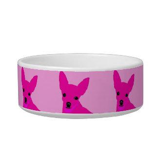 Pink Chihuahua Pet Bowl