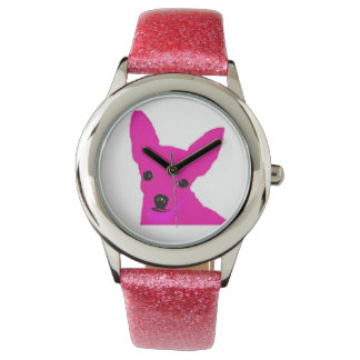 Pink Chihuahua Watch for kids