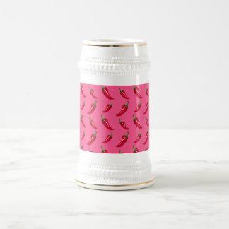 Pink chili peppers pattern mug