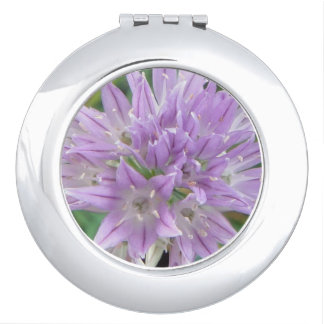 Pink Chive Flowers Allium Schoenoprasum Makeup Mirror
