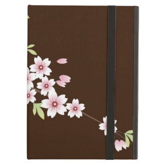 Pink/Chocolate Brown Cherry Blossom iPad Air Covers