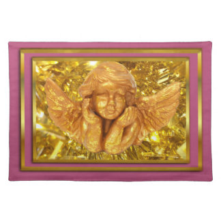 PINK CHRISTMAS AND NEW YEAR ANGEL TABLE MAT