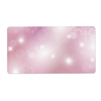 Pink Christmas background Label Shipping Label