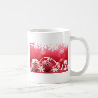 Pink Christmas Ornaments and Lace Mug
