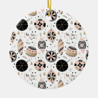 Pink Christmas Time Ornament Pattern