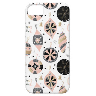Pink Christmas Time Ornament Pattern Barely There iPhone 5 Case