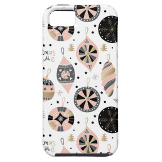 Pink Christmas Time Ornament Pattern iPhone 5 Case