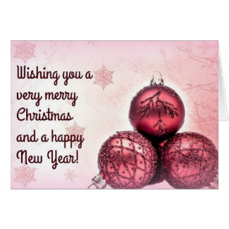 Pink Christmas Wishes (white envelopes included) Greeting Card