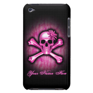 Pink Chrome Skull and Crossbones iPod Touch Case