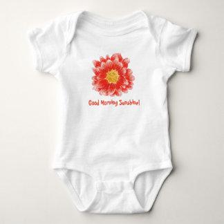 Pink Chrysanthemum Flower Bodysuit