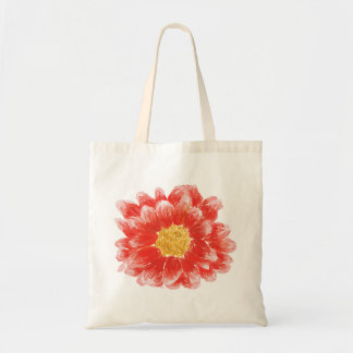 Pink Chrysanthemum Flower Tote