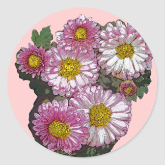 Pink Chrysanthemum Gifts Sticker