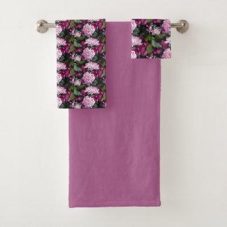 Pink Chrysanthemums Floral Bath Towel Set