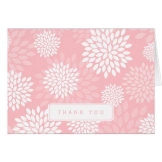 Pink Chrysanthemums Floral Pattern Card