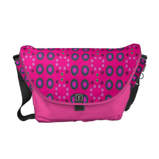 pink circle dots pattern courier bag