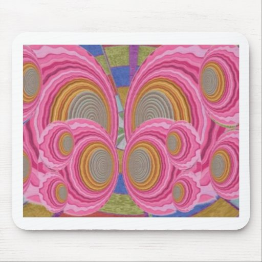 PINK Circle Waves full of Love n Warm Energy: GIFT Mouse Pad