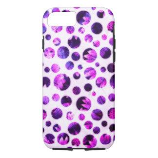 Pink Circles - Apple iPhone 7, Tough Phone Case