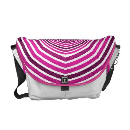 pink circles messenger bags
