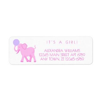 Pink Circus | Baby Girl Adorable Personalize It Return Address Label