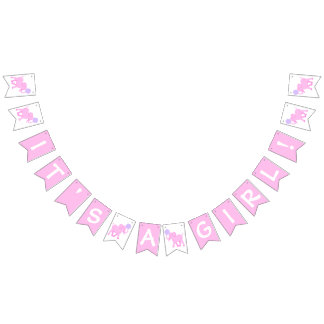 Pink Circus | Baby Shower Elephant Its A Girl Bunting