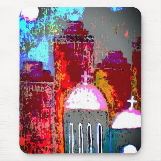Pink City Church Mouse Pad