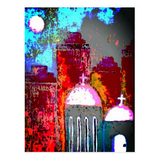 Pink City Church Postcard