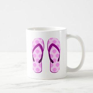 Pink Clam Flip Flops Coffee Mug