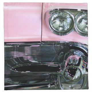 Pink Classic Car Cloth Napkin