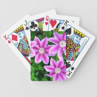 Pink Clematis  and wild Oregano Bicycle Playing Cards