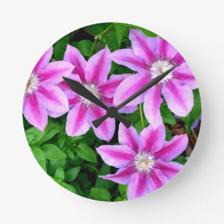 Pink Clematis  and wild Oregano Clock