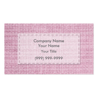 Pink Clothing Business Card Template