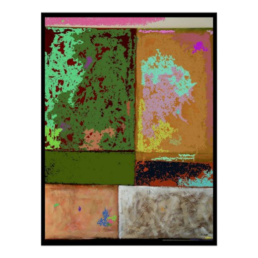 Pink Cloud Abstract Digital Expressionism Poster