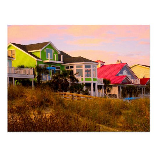 Pink Clouds at Isle of Palms Postcard