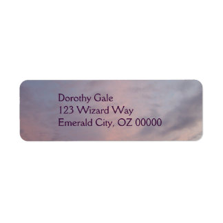 Pink Clouds Return Address Label