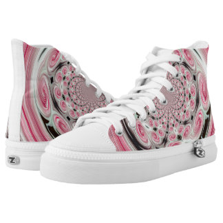 Pink Clouds Swirl Womens Shoes Printed Shoes