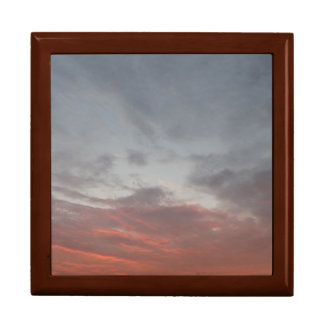 Pink clouds Tile Gift Box, Golden Oak Large Square Gift Box