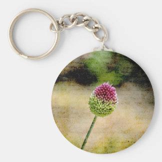 Pink Clover Keychain