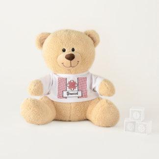 Pink Clover Ribbon by Kenneth Yoncich Teddy Bear