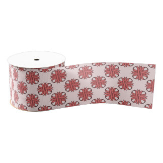 Pink Clover Ribbon Grosgrain Ribbon