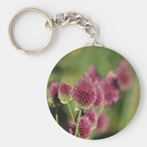Pink Clovers Key Chain