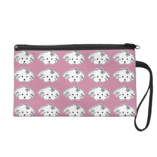 Pink Clutch small dog, the world of Lua Wristlet